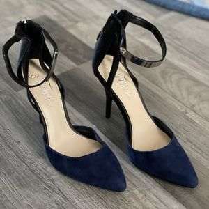 Fergie navy/blue jazz shoes leather and suede